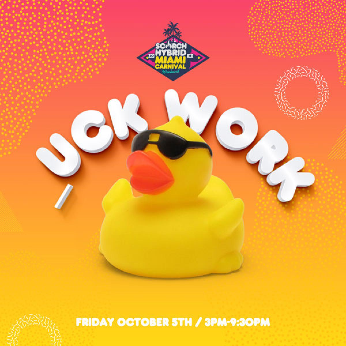 Duck Work Miami flyer or graphic.