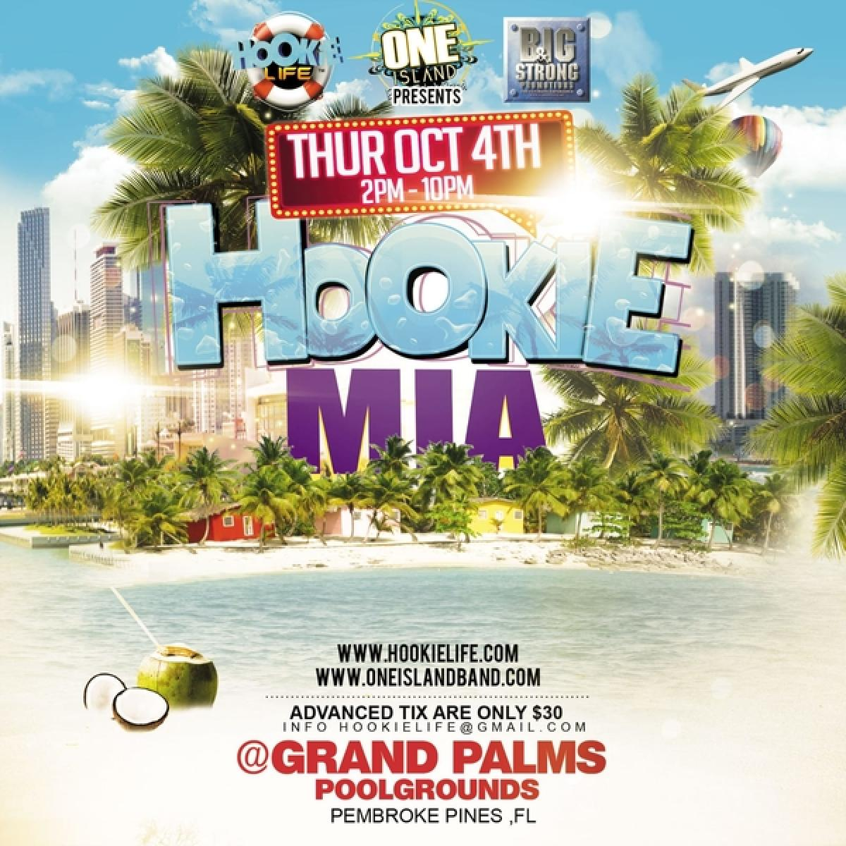 Hookie Miami flyer or graphic.