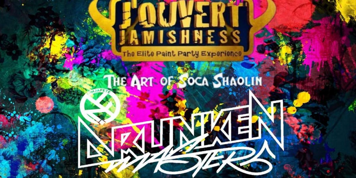 Jouvert Jamishness - Art of Soca Shaolin flyer or graphic.