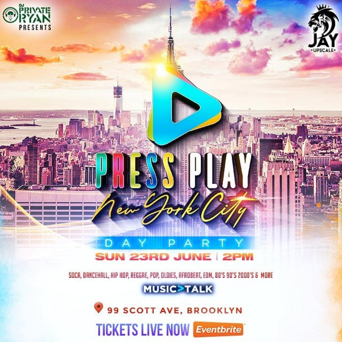 PRESS PLAY ▶ flyer or graphic.