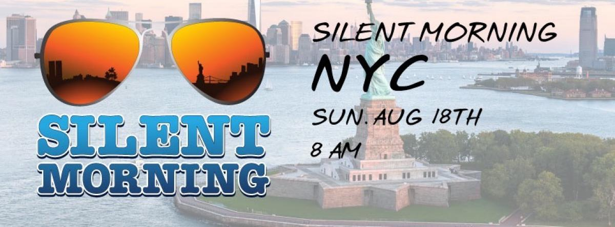 Silent Morning NYC flyer or graphic.
