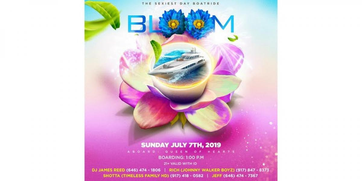 Bloom flyer or graphic.