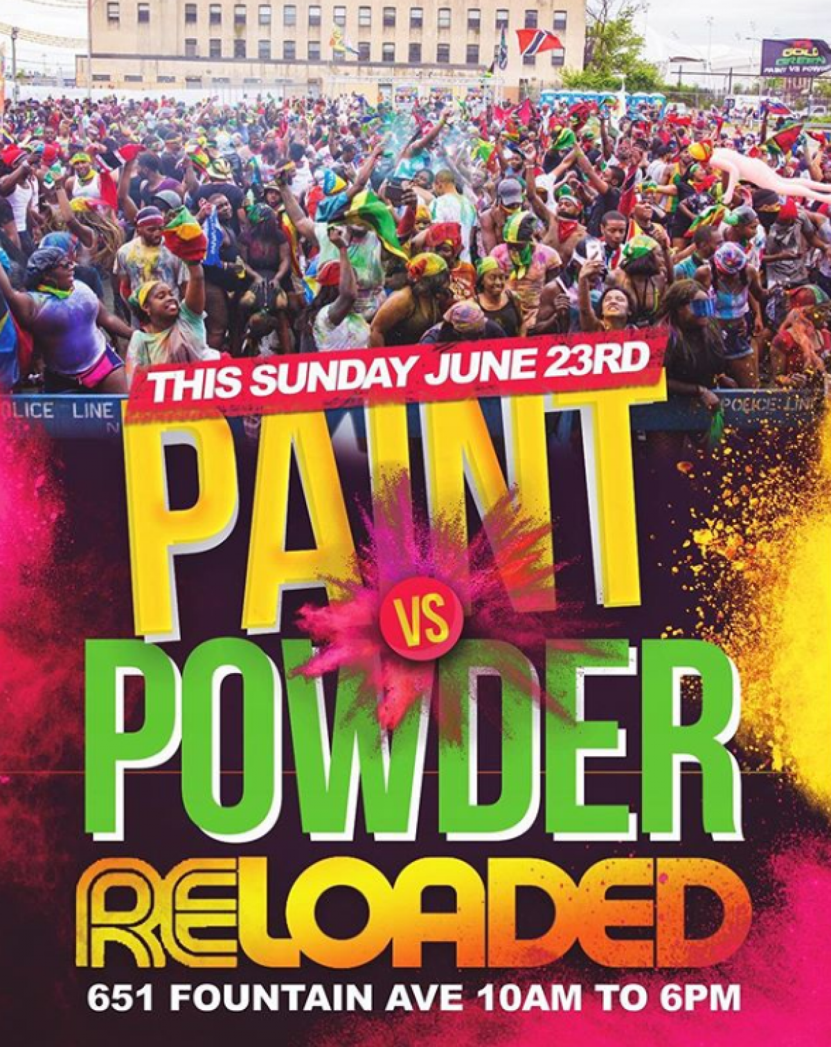 IGG Paint vs Powder flyer or graphic.