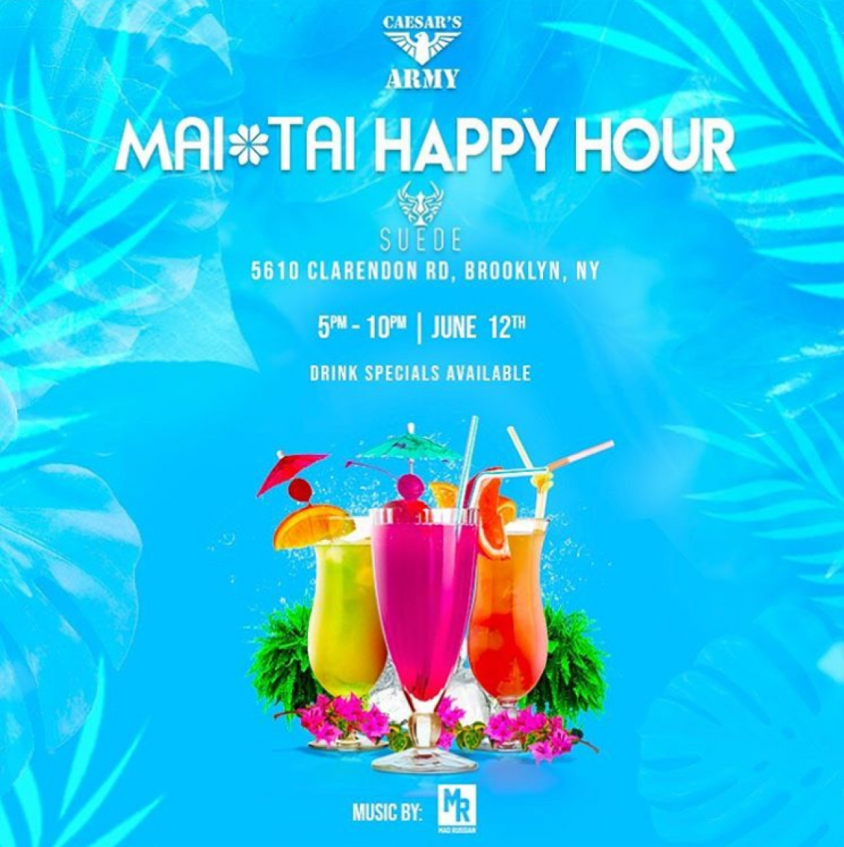 Mai Tai Happy Hour flyer or graphic.