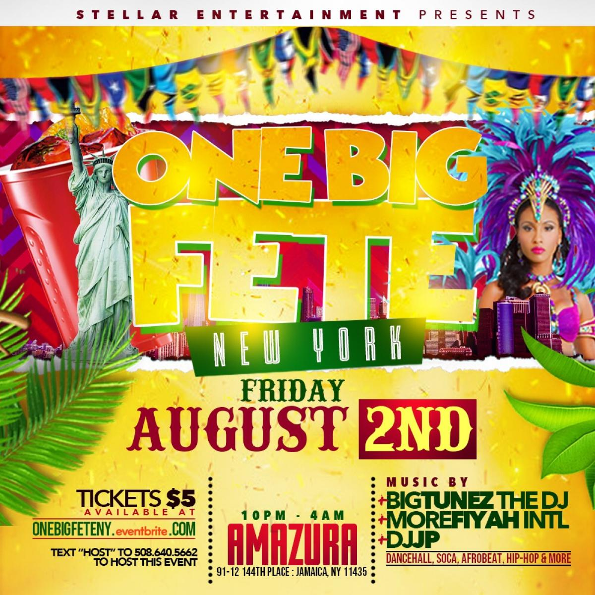 One Big Fete flyer or graphic.