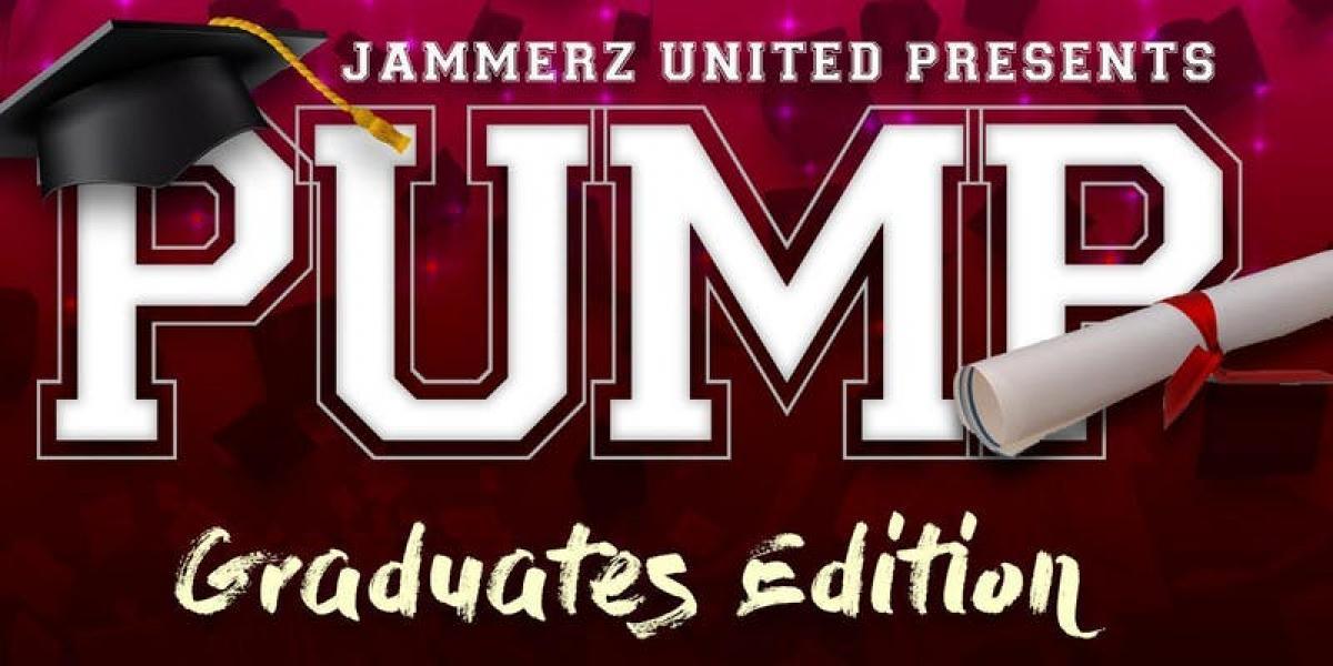 Pump Saturdays: Graduate Edition flyer or graphic.