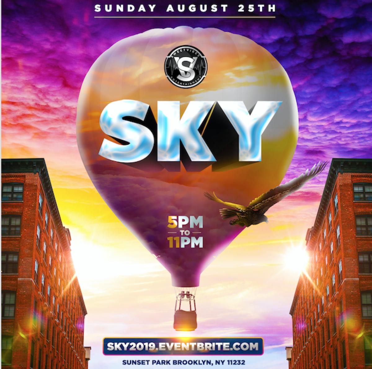 Sky Daybreak flyer or graphic.
