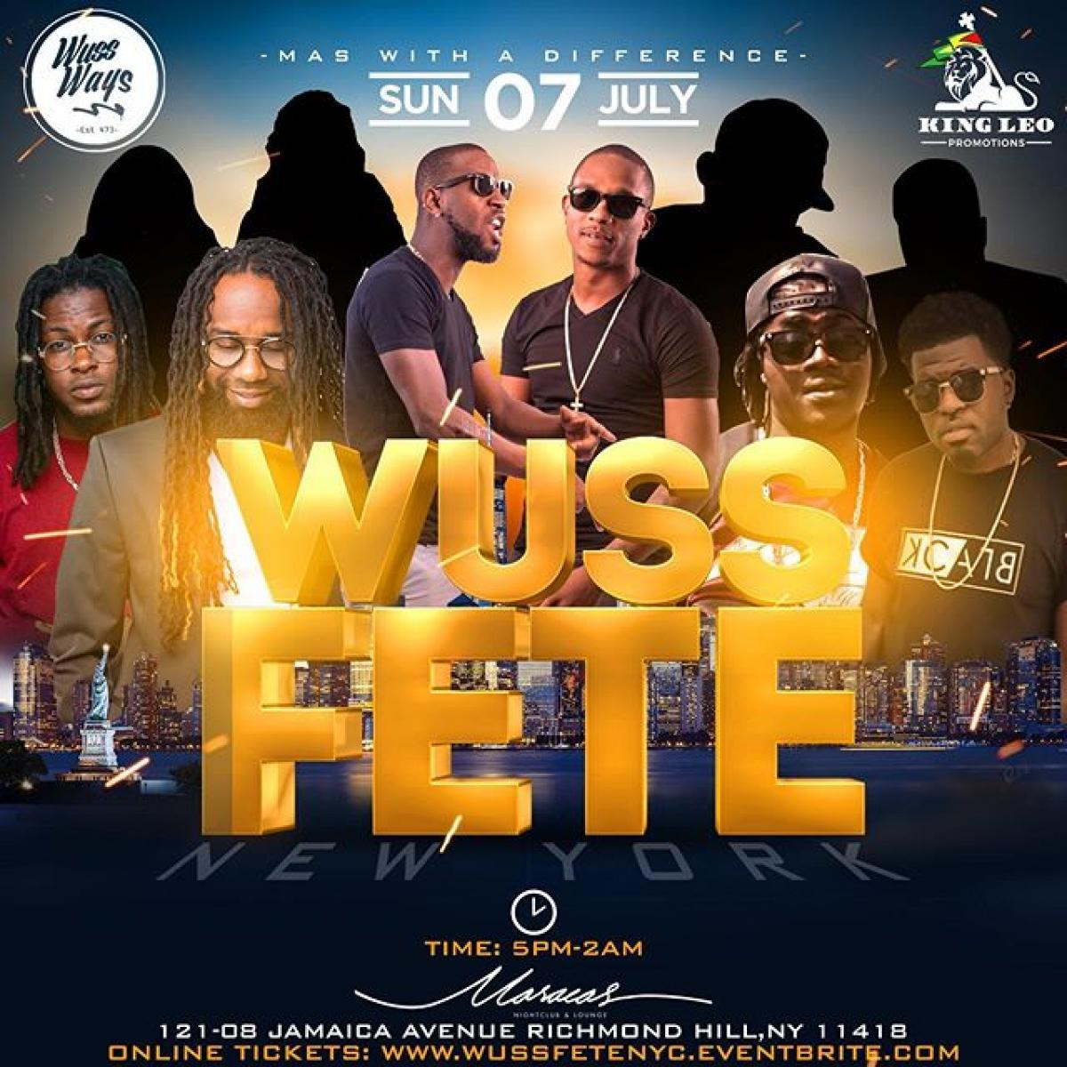 Wuss Fete flyer or graphic.