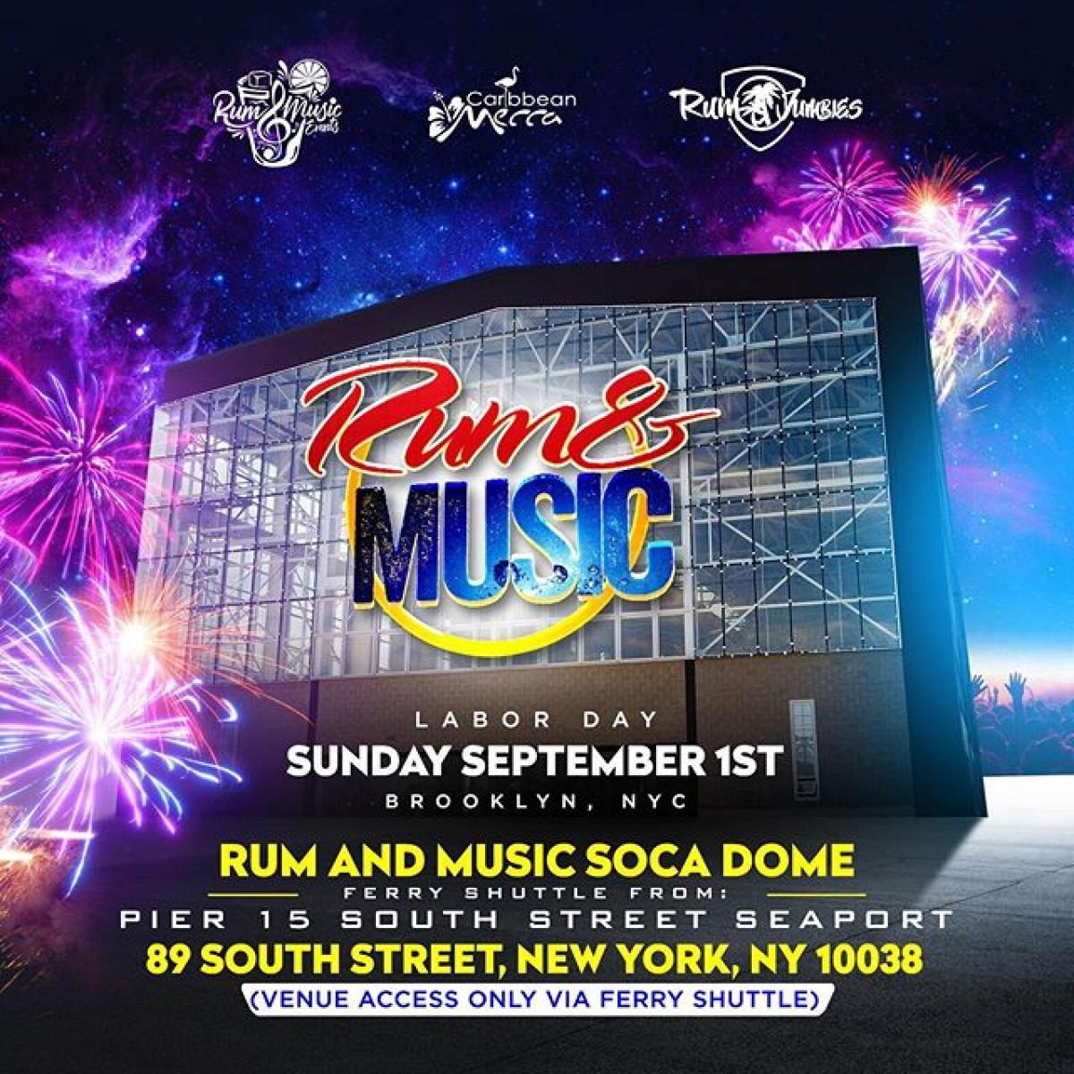 Rum & Music flyer or graphic.