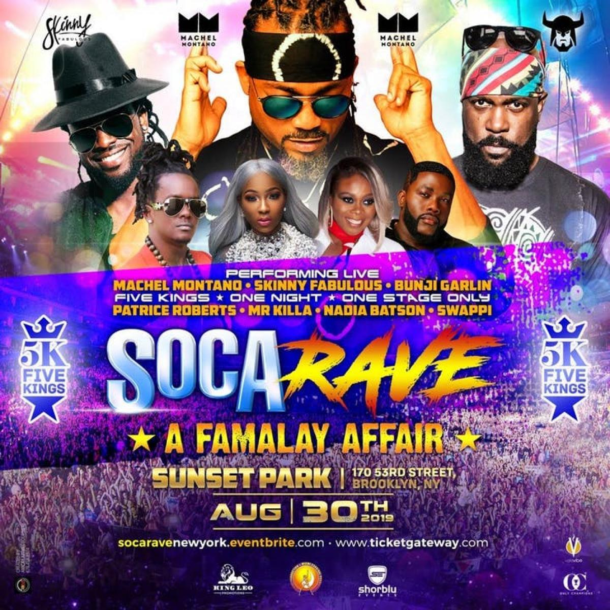 Soca Rave flyer or graphic.