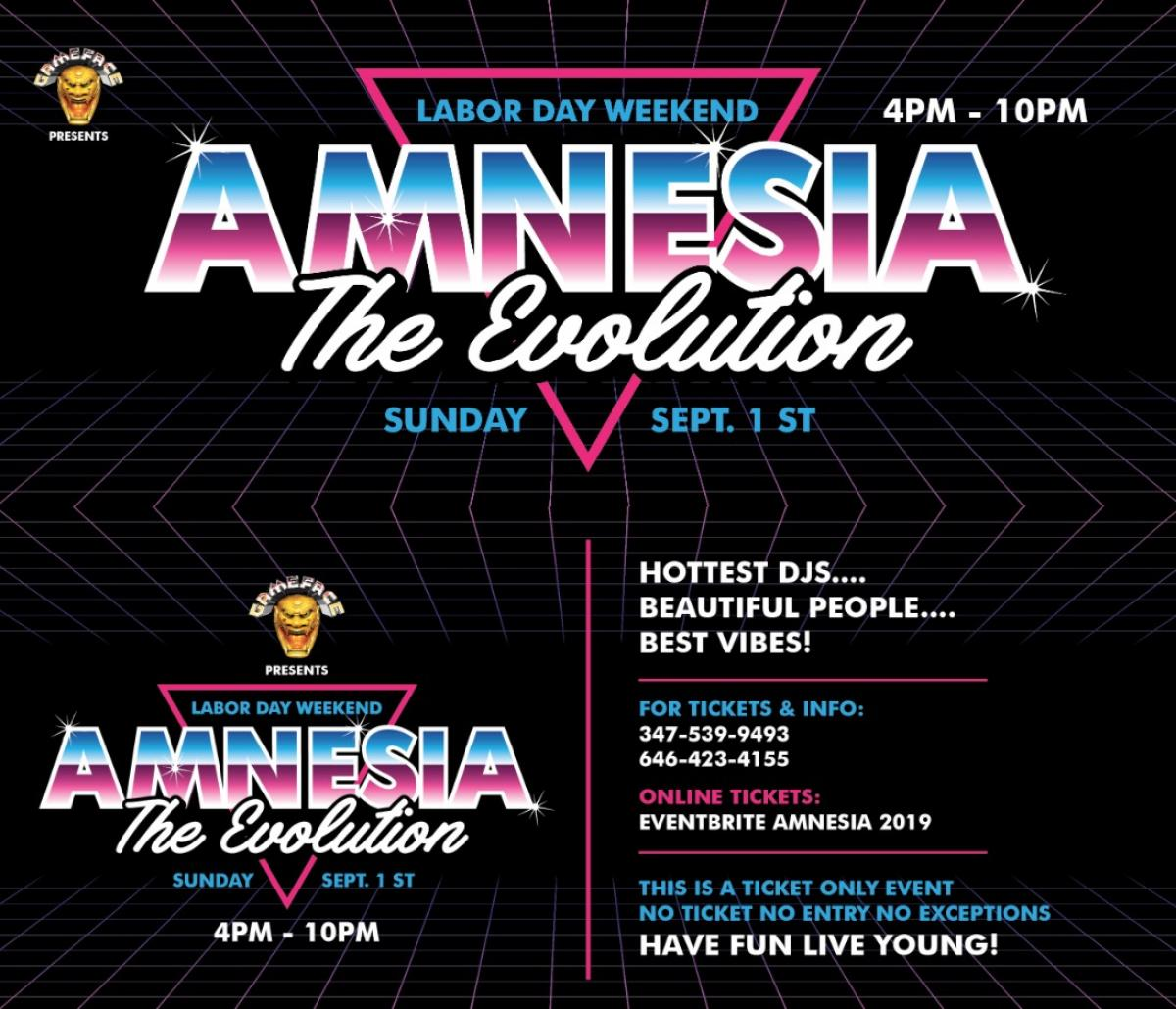 Amnesia flyer or graphic.