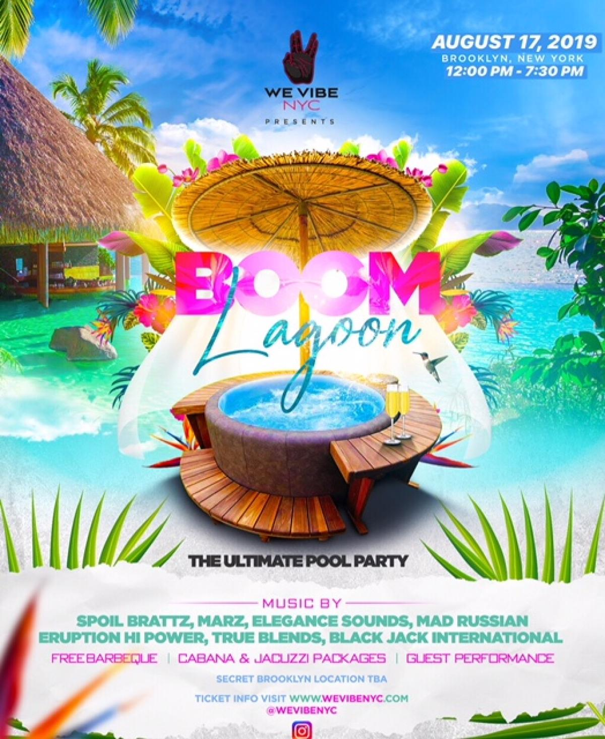 Boom Lagoon flyer or graphic.