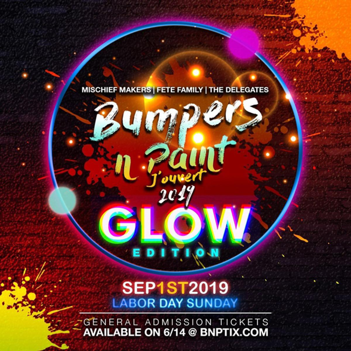 Bumpers n Paint J'ouvert flyer or graphic.