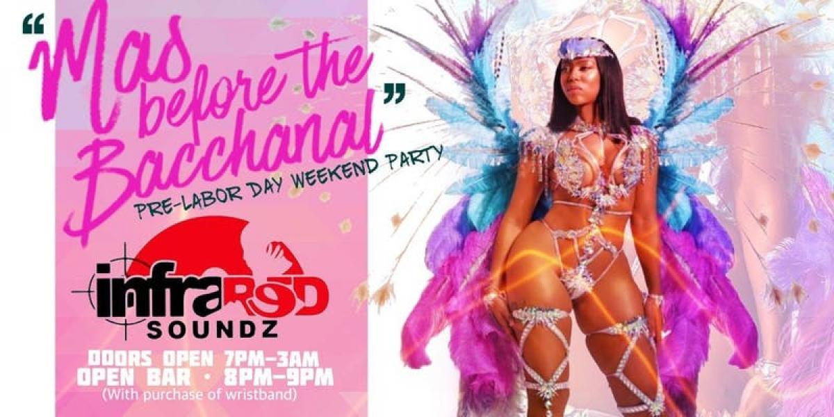Mas Before the Bacchanal! flyer or graphic.