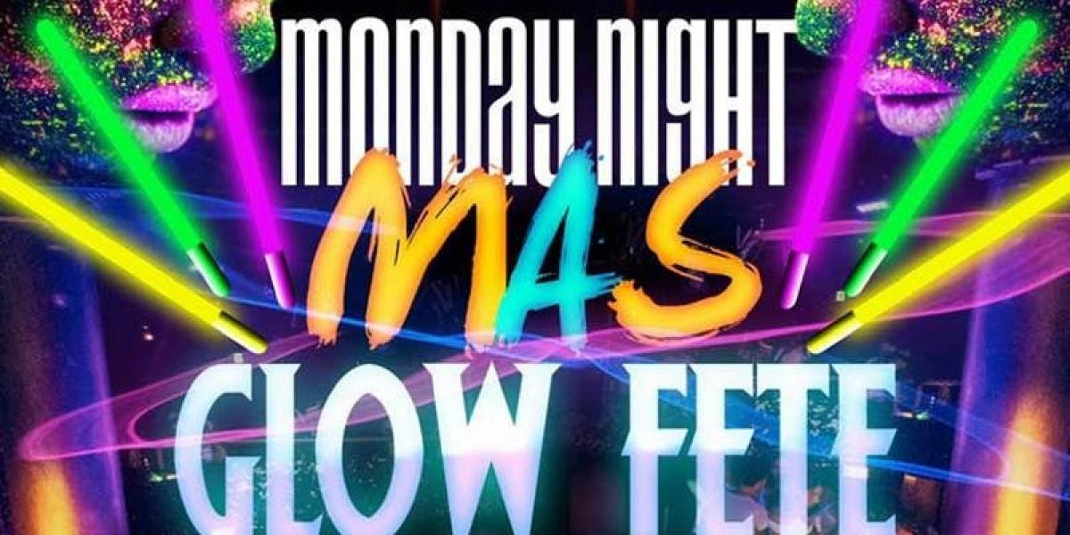 Monday night Mas flyer or graphic.