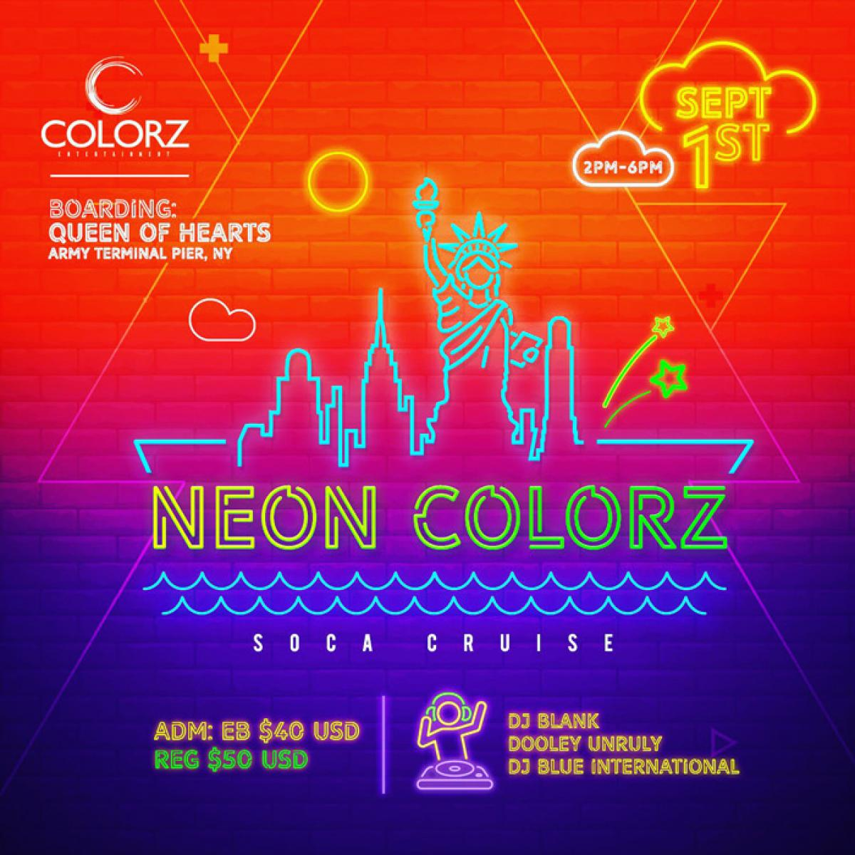 Neon Colorz flyer or graphic.