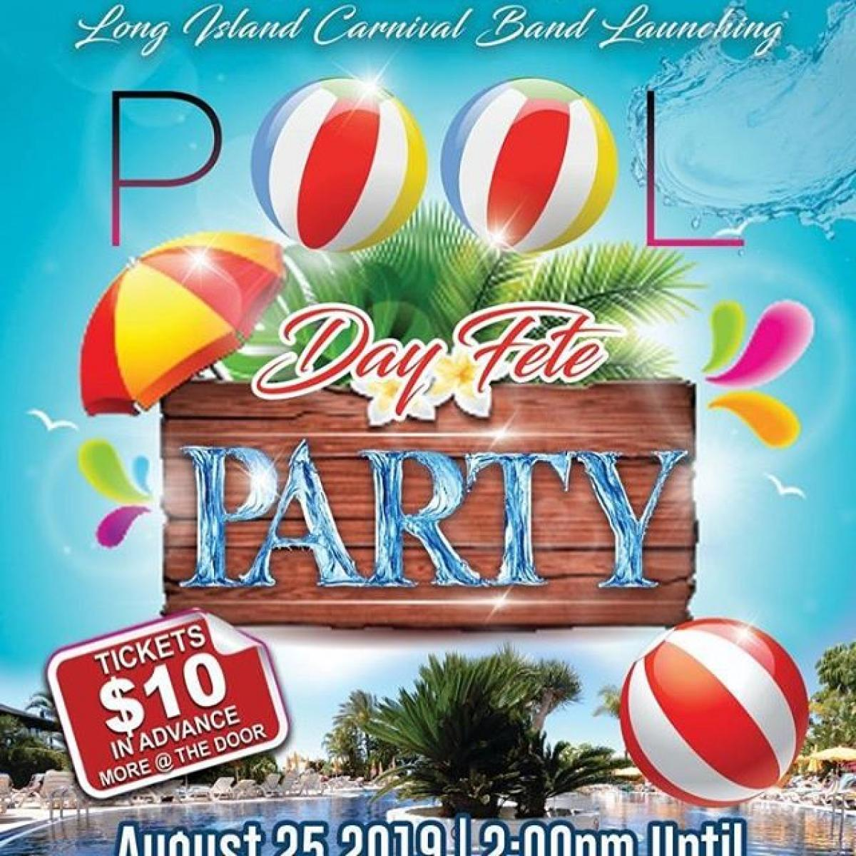 Pool Party Day Fete flyer or graphic.