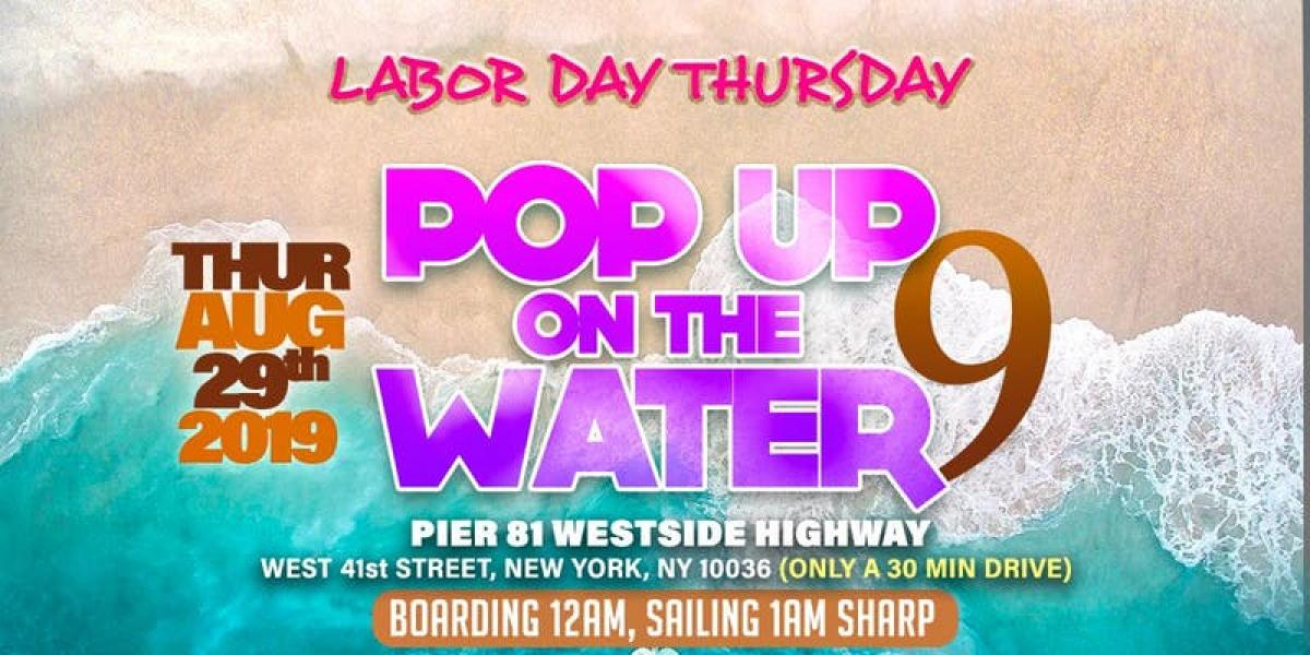 Pop Up on the Water flyer or graphic.