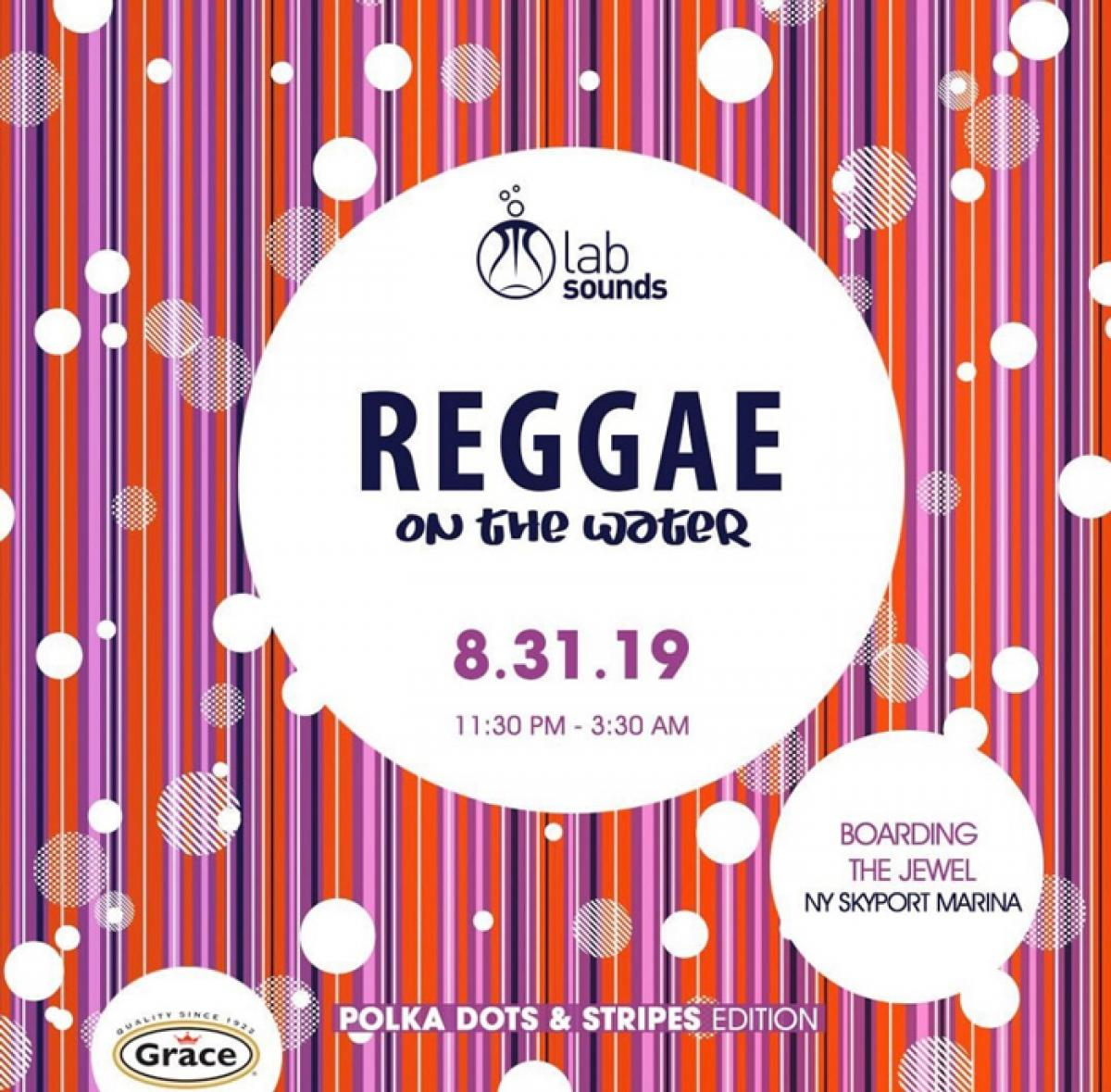 Reggae on the Water flyer or graphic.