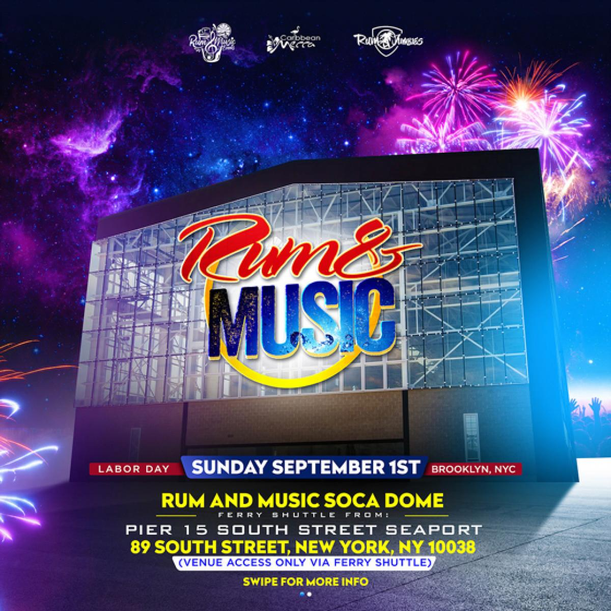 Rum and Music flyer or graphic.