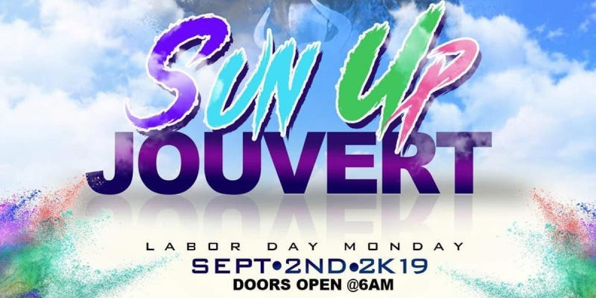 Sun Up Jouvert flyer or graphic.