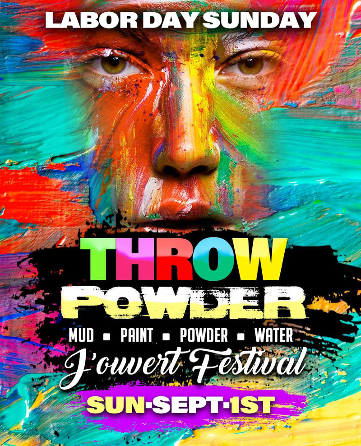 Throw Powder Fete flyer or graphic.