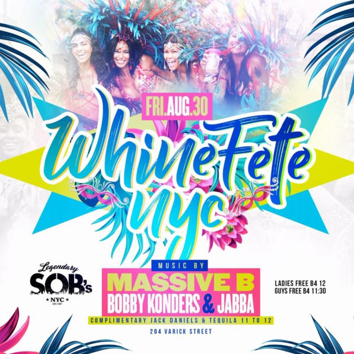 Whinefete flyer or graphic.