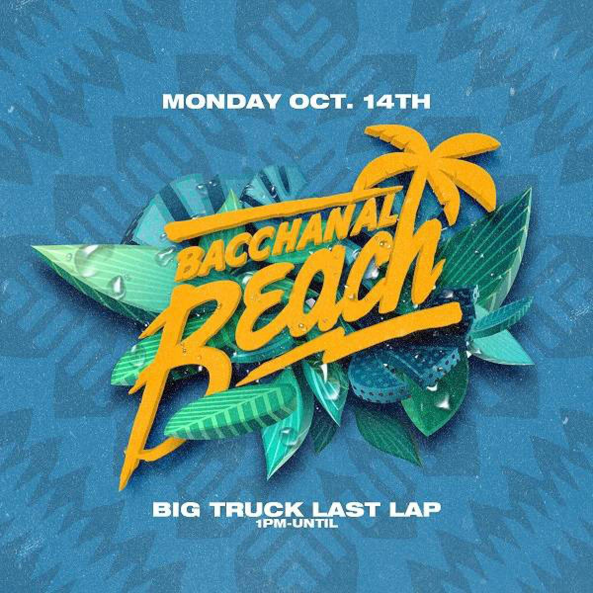 Bacchanal Beach flyer or graphic.