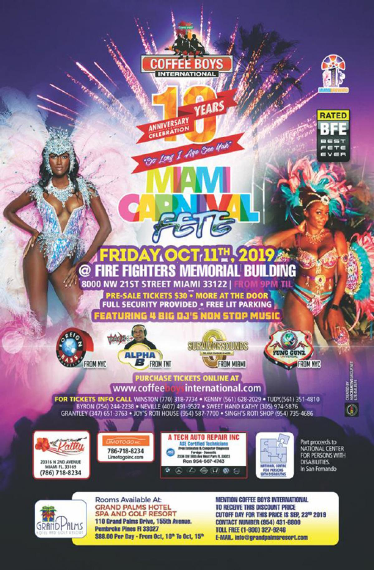 Carnival Fete flyer or graphic.