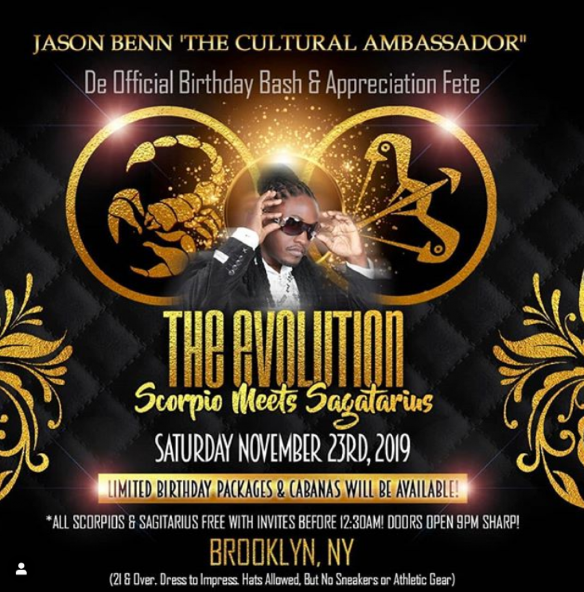 The Evolution flyer or graphic.