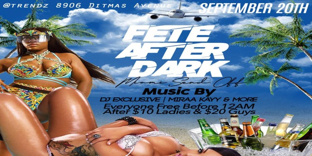 Fete After Dark flyer or graphic.