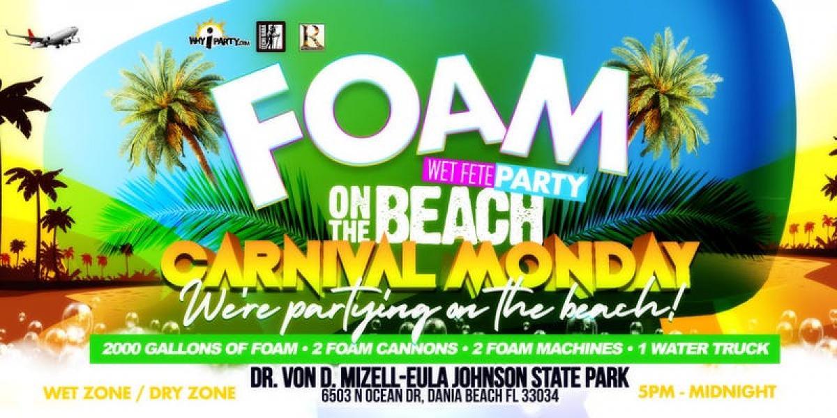 Foam Wet Fete Carnival flyer or graphic.