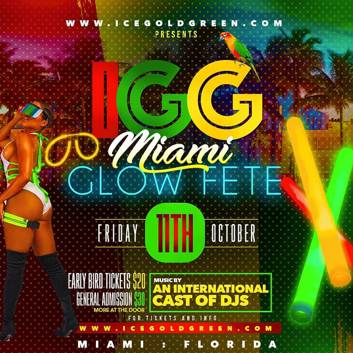 Glow Fete flyer or graphic.