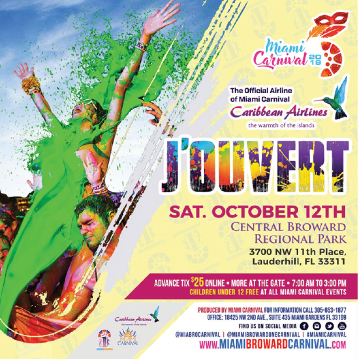 J'ouvert flyer or graphic.