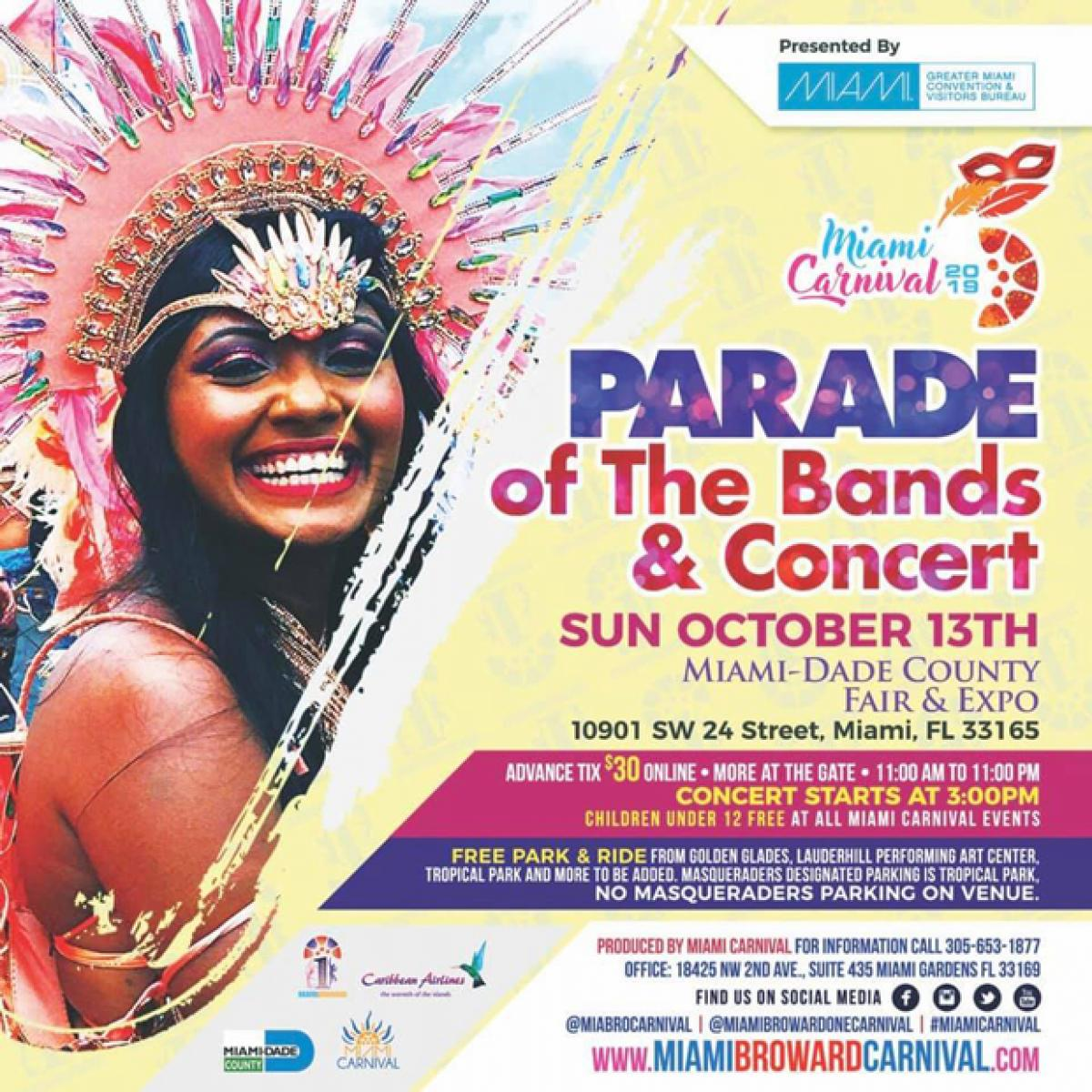 Parade of the Bands & Concert flyer or graphic.
