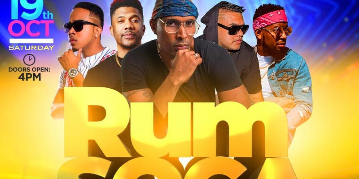 Rum and Soca flyer or graphic.