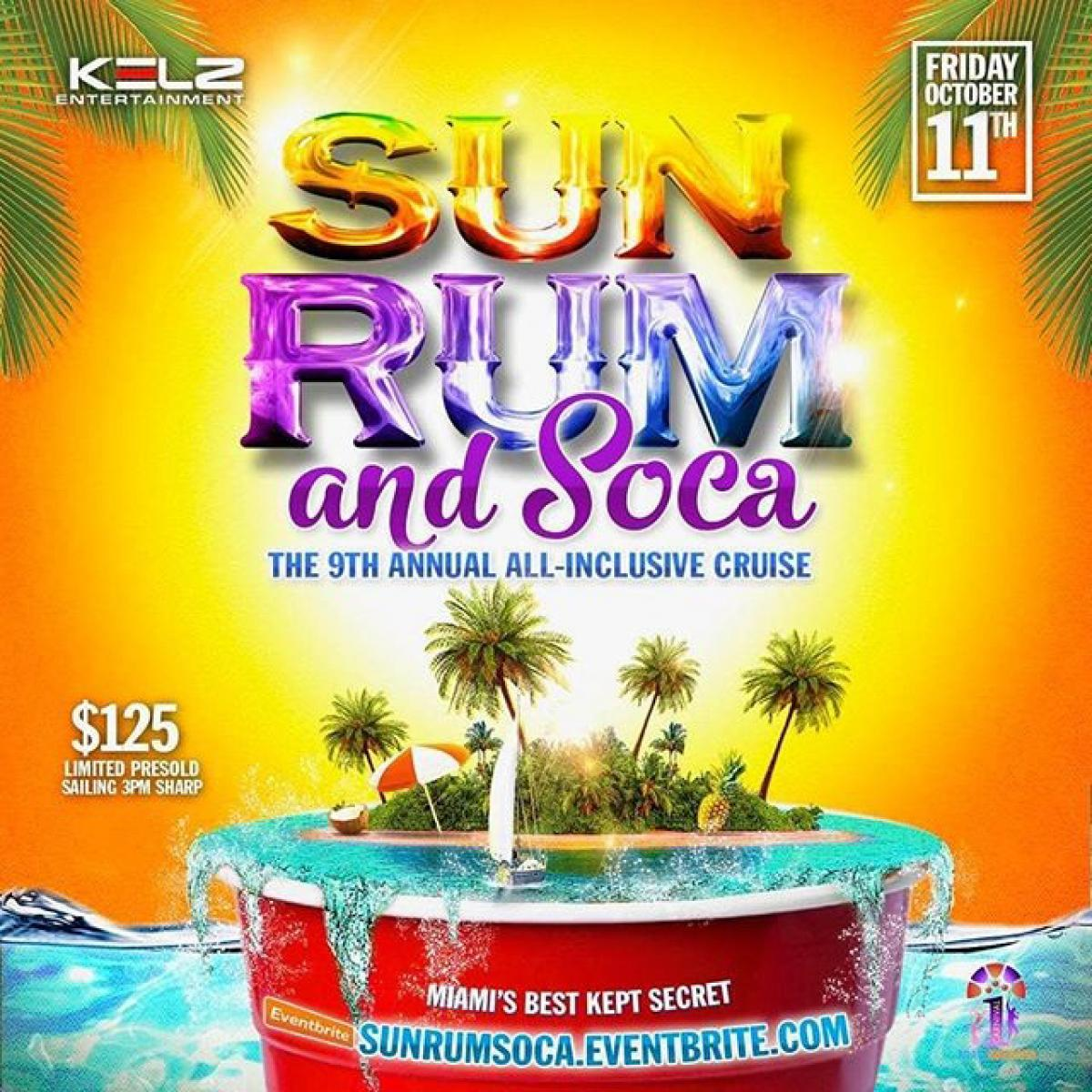 Sun Rum and Soca Cruise flyer or graphic.