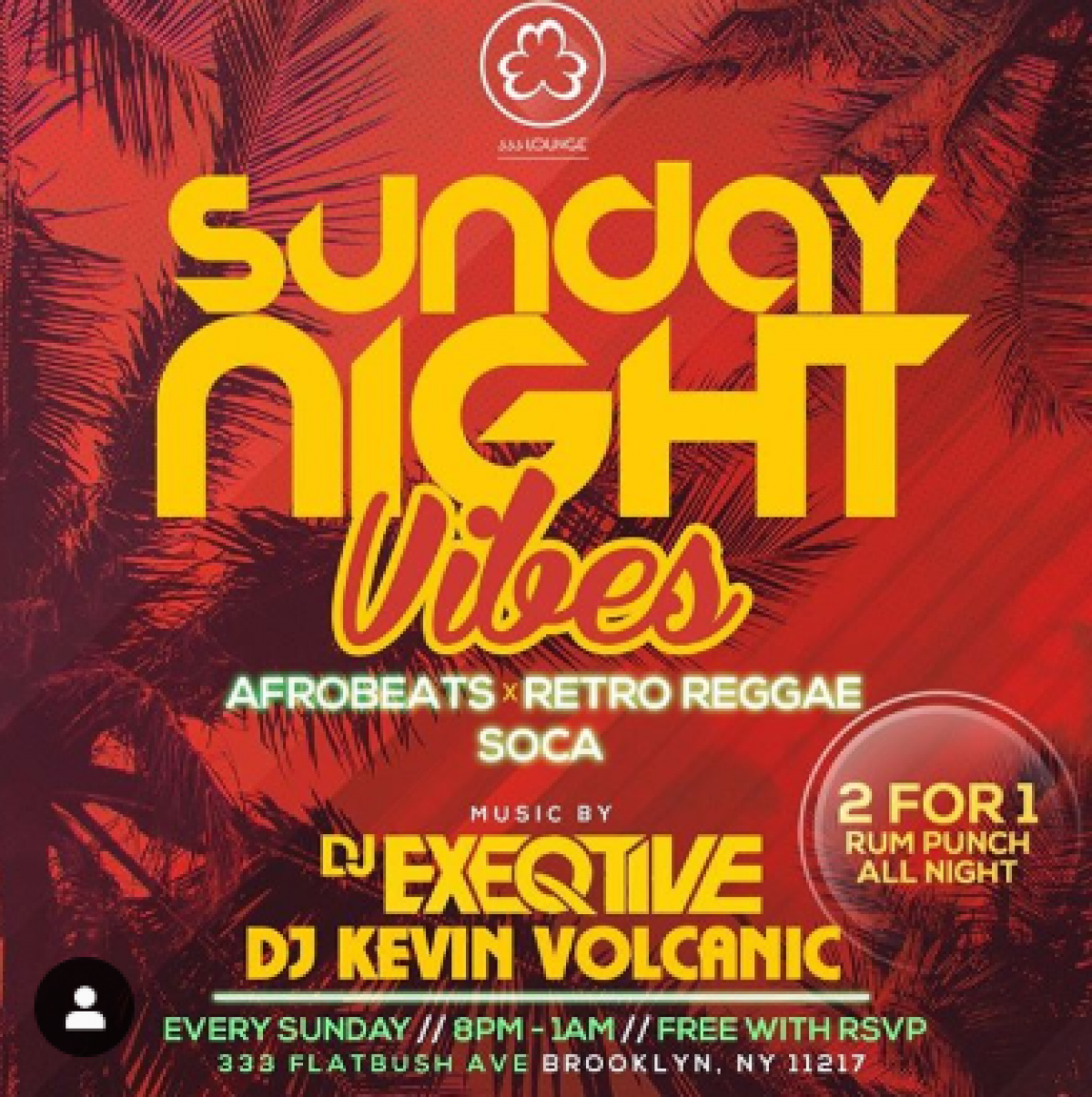 Sunday Night Vibes flyer or graphic.
