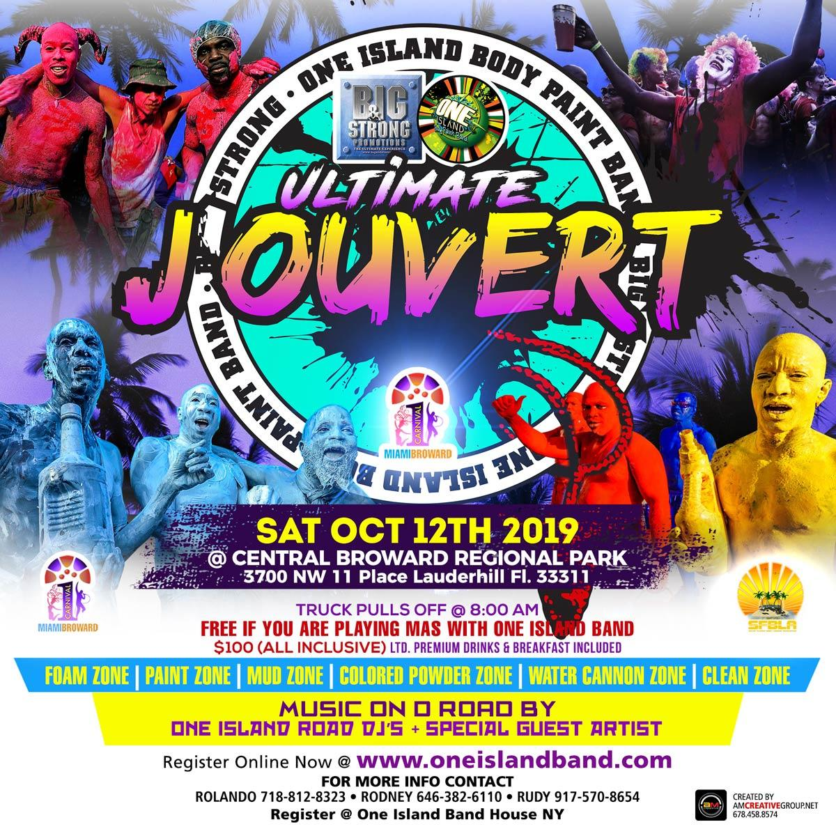 Ultimate J'ouvert flyer or graphic.
