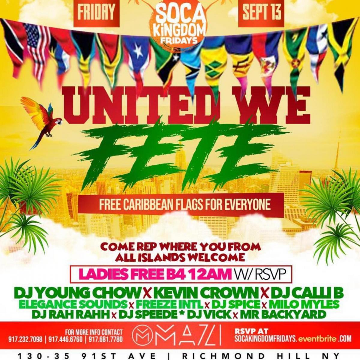 United We Fete flyer or graphic.
