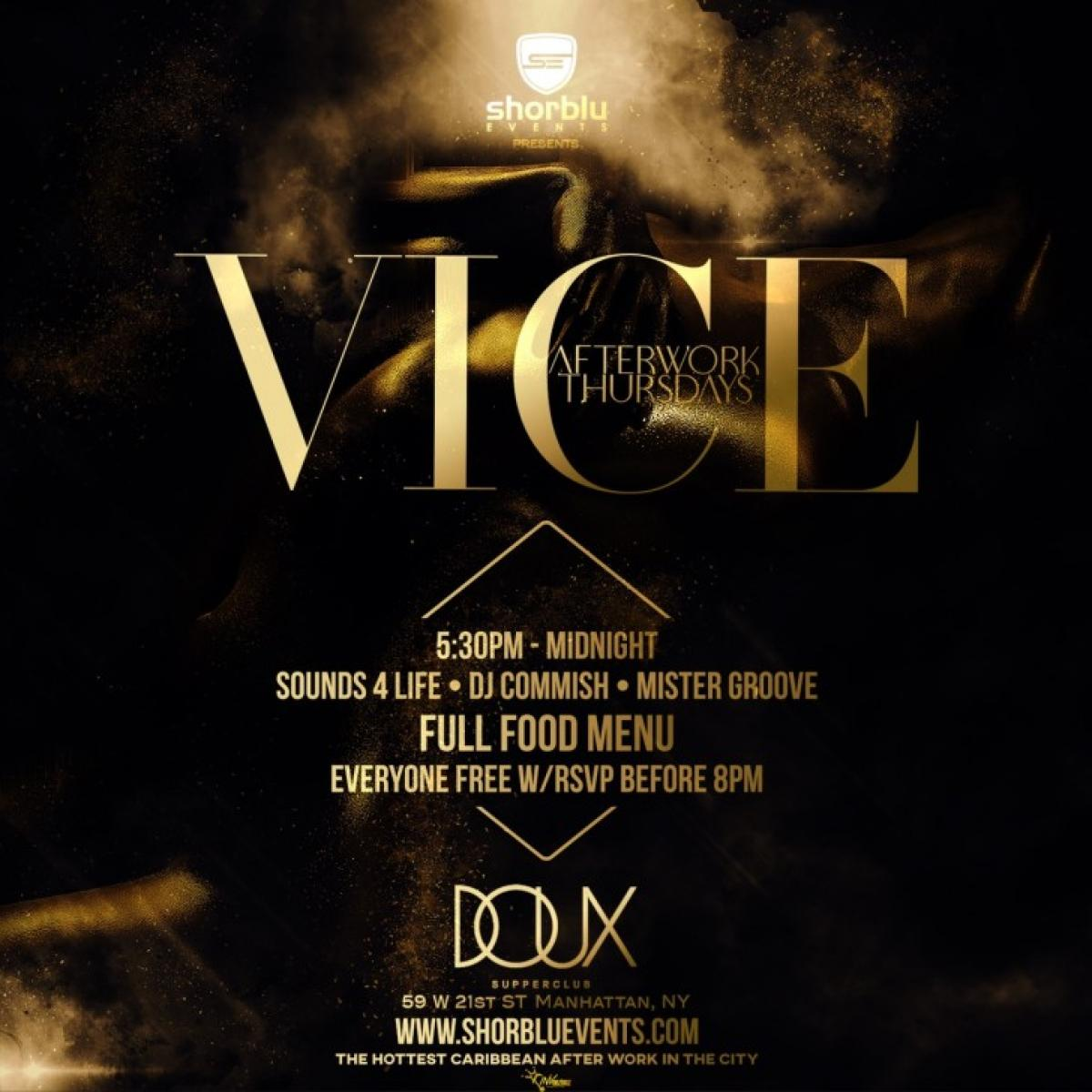 Vice flyer or graphic.