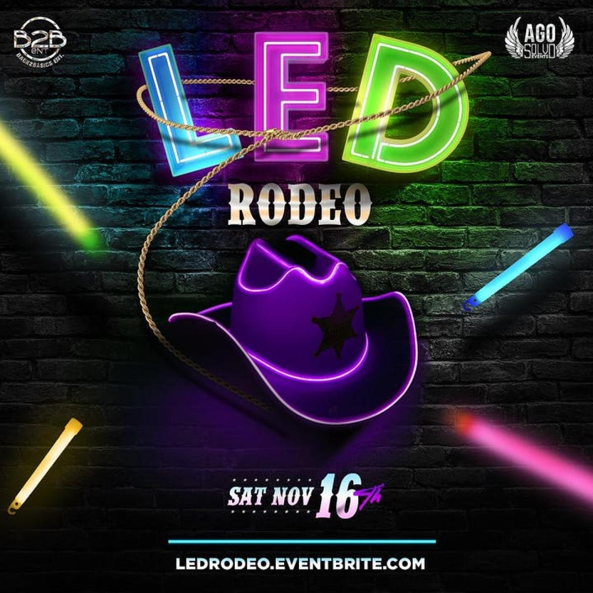 LED Rodeo flyer or graphic.
