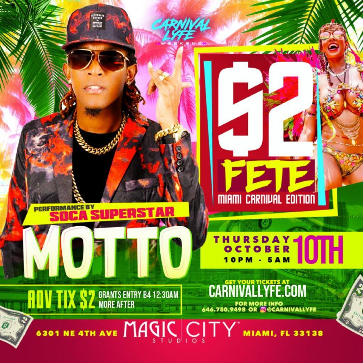 2$ Fete flyer or graphic.