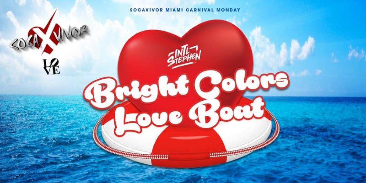 Bright Colors Love Boat flyer or graphic.