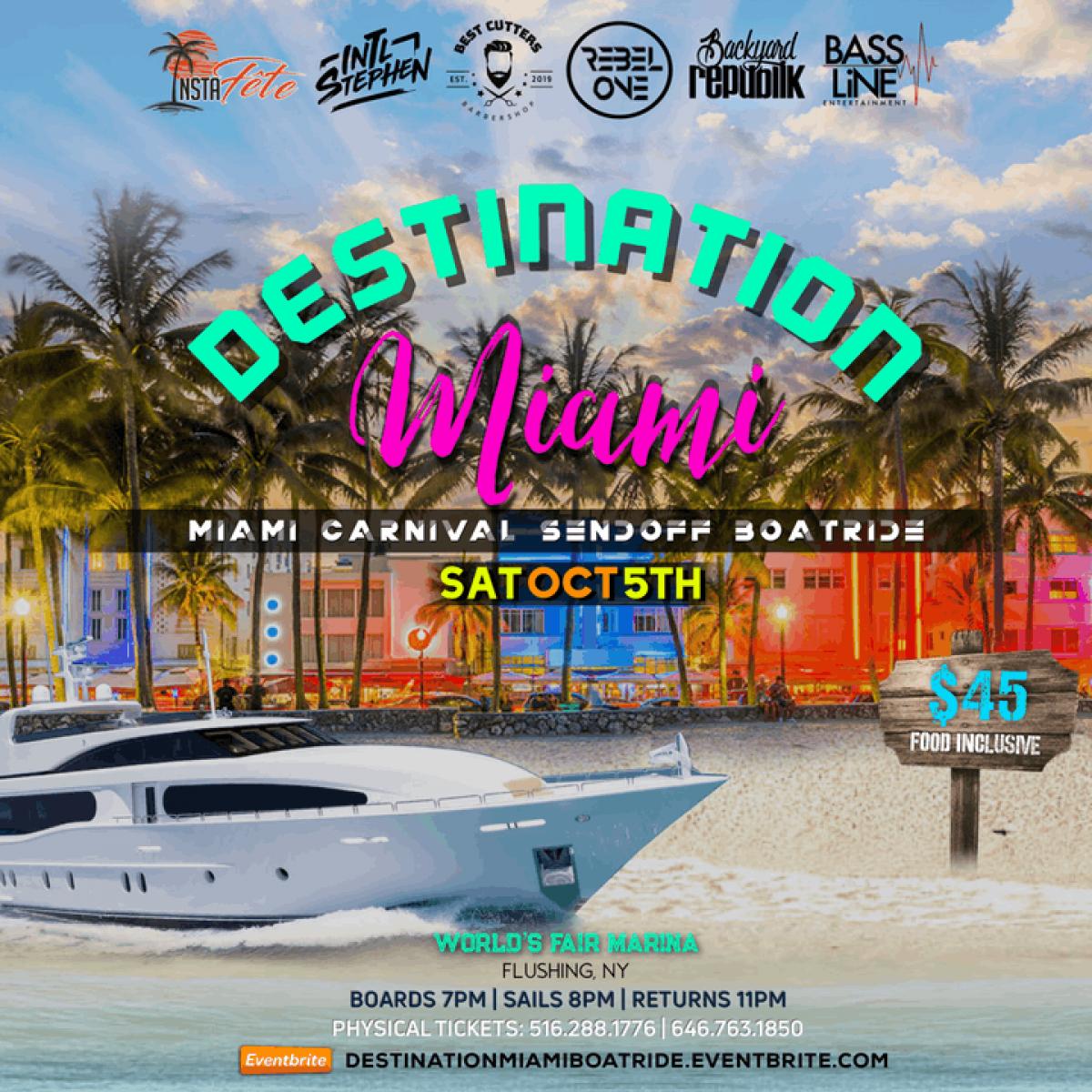 Destination Miami flyer or graphic.