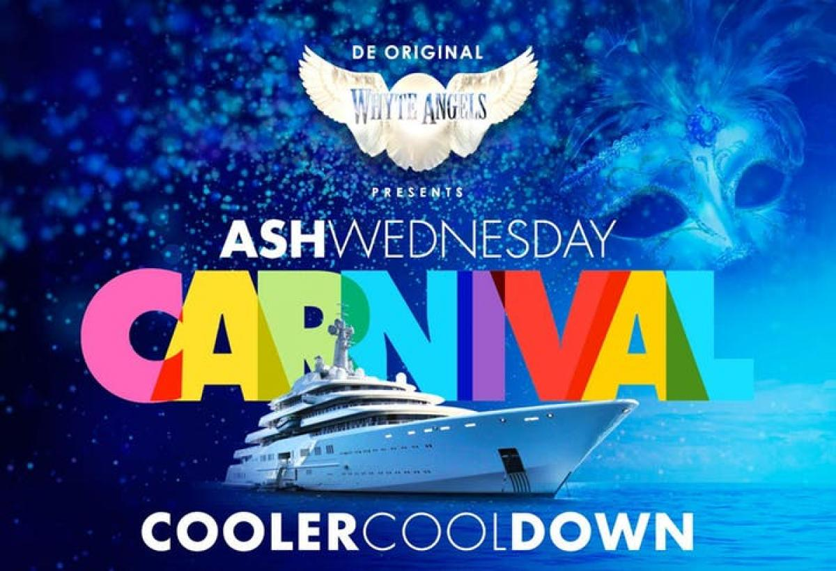Ash Wednesday Cooler Cool Down flyer or graphic.