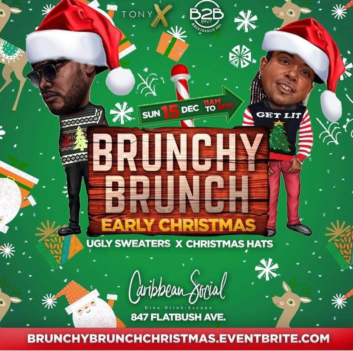 Brunchy Brunch flyer or graphic.