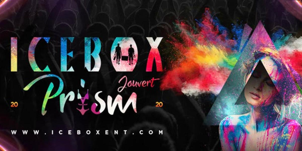 Prism Icebox  Jouvert 2020 flyer or graphic.