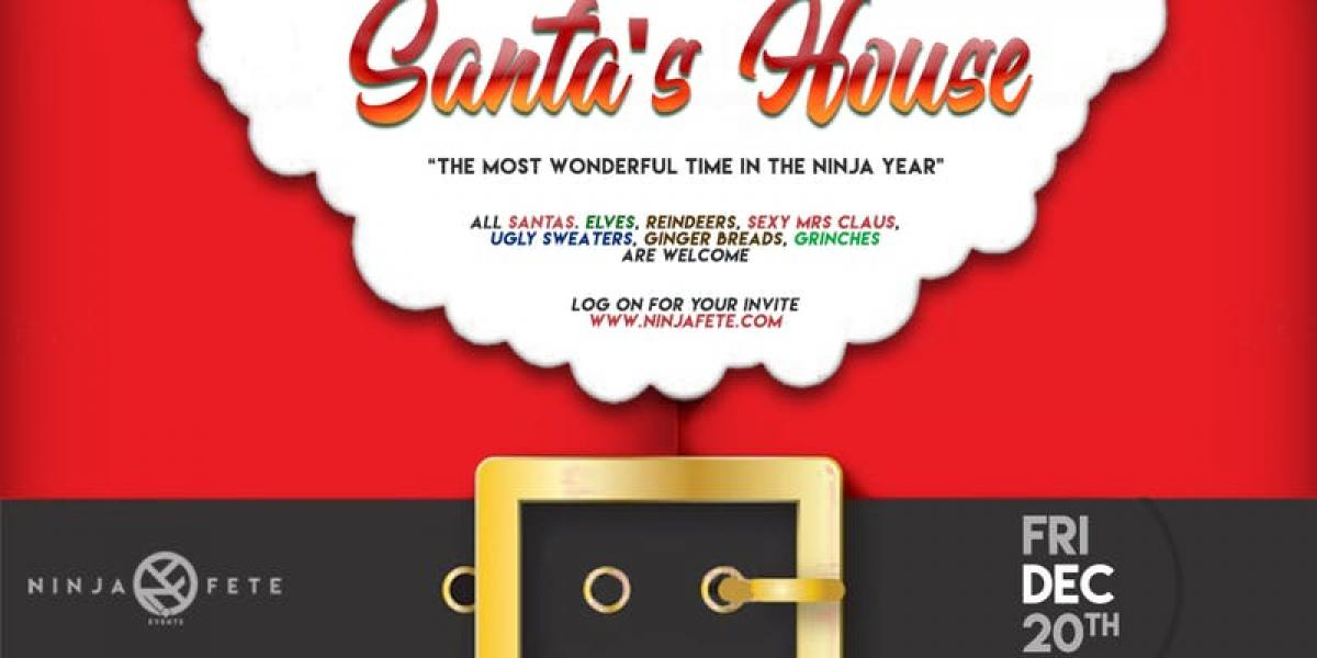 Santa's House flyer or graphic.