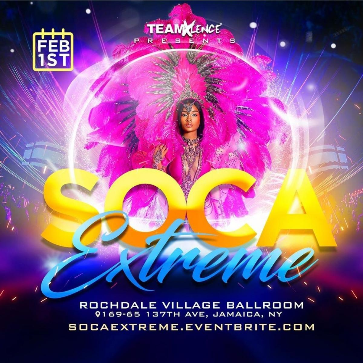 Soca Extreme flyer or graphic.